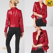 womens leather moto jacket cw650032 cwmalls com