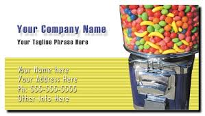 Bulk Candy For Vending Machines Stunning Candy Vending Business Cards Full Color Bulk Candy Business Cards