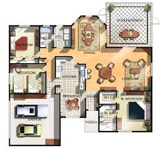 view new house design with floor plan home decor interior exterior simple awesome 3d floor plan free home design