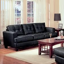 Stylish Sofa Sets For Living Room Pc Black Bonded Leather Stylish Sofa Loveseat Set
