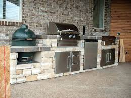 big green egg and grill island outdoor kitchen ideas