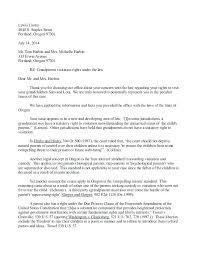 Child Visitation Letter Sample Example Of Custody Agreement Letter