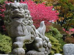 Lawn & Garden:Japanese Garden Design Plans With Red Bridge Japanese Garden  Sculpture Ideas
