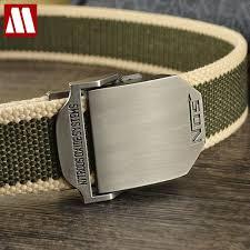 New <b>2019 Fashion Mens Canvas</b> Belt Buckle Metal Tactical Belt ...