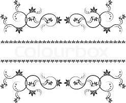Design Decorate Frame with monograms for design and decorate Stock Vector Colourbox 2