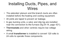 heating ventilation and air conditioning hvac systems ppt installing ducts pipes and wires