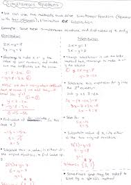 notes for just simultaneous equations