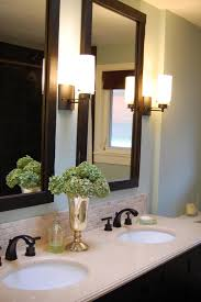 bathroom vanities mirrors and lighting. Decor Of Bathroom Mirrors Wood Frame About Interior Design Within Framed Vanity 7 Vanities And Lighting