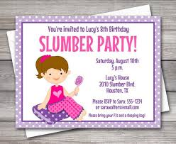 Printable Slumber Party Invitation Slumber Party Birthday Pj Party Sleepover Party