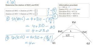 vertical alignment vertical curve design question 7