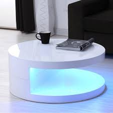 white hi gloss coffee table led round ideal led coffee table white gloss coffee tables uk