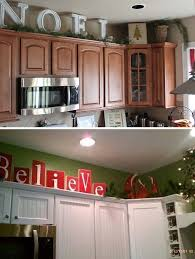 letters on top of cabinets they will bring holiday spirit to your kitchen