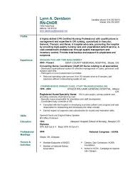 Nursing Skills Resume Musiccityspiritsandcocktail Com