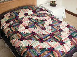 86 best Amish quilts images on Pinterest   Embroidery, Auction and ... & diamond log cabin quilt pattern   Colorado Log Cabin Quilt -- outstanding  ably made Amish Adamdwight.com