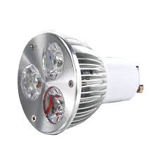 GU10 3W 3 LED high <b>power spot</b> light bulb lamp light DC <b>12V</b> Warm ...
