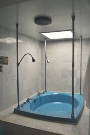 luxury whirlpool steam shower tub combo stall with curved glass