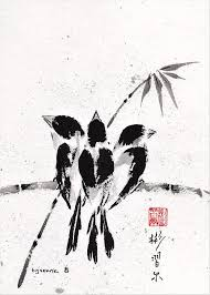 belonging spontaneous xie yi style chinese brush painting on rice paper