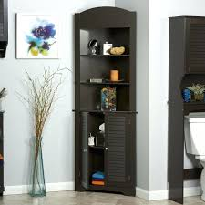 tall corner bathroom cabinet. Tall Corner Cabinet Narrow With Doors Bathroom White V
