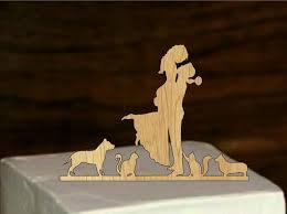 Wedding Silhouette Cake Topper Pet Silhouette Wedding Cake