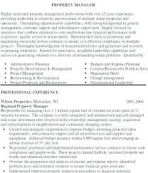Sample Resume For Apartment Manager Property Management Objective ...