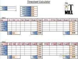 timecard with lunch breaks timesheet calulator templates franklinfire co