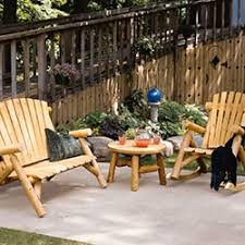 rustic wood patio furniture. Outdoor Seating Rustic Wood Patio Furniture B