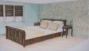 simple bedroom drawing35 drawing