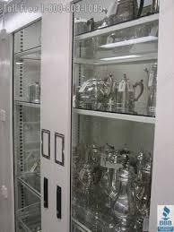 museumcabinetsilverstorageglassdoorssealedview museum cabinet silver storage glass antique with doors81 cabinet