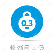 Pe 80 Weight Chart Weight Sign Icon 0 3 Kilogram Kg Envelope Mail Weight Copy