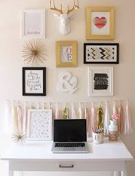 diy desk accessories for girls. Simple Desk Pink And Gold Office Gallery Wall Inspiration Throughout Diy Desk Accessories For Girls