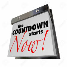 Calendar Countdown Days Countdown Starts Now Calendar Day Date Final Words Stock Photo