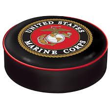 marine corps vinyl bar stool seat cover