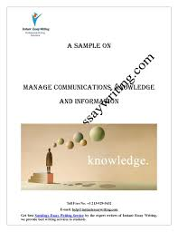 sample report on manage communications knowledge and information by