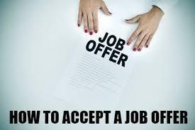 letter of job acceptance the job offer acceptance letter
