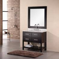 Contemporary bathroom vanities 36 inch Mirror 36 Inch Modern Single Sink Bathroom Vanity With Carrera White Marble Myriadlitcom 36 To 40 Inch Wide Bathroom Vanity Cabinets With Sink 2019