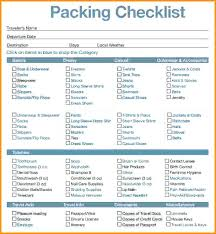 Vacation Planning Checklist Template Summer Packing List A