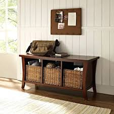 Hallway Bench And Coat Hook Shoe Storage In White Brittany Hall Tree With  Stand