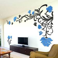 wall decor stickers for living room stickers wall decor flower rattan wall stickers home decor living room art background acrylic mirrored decorative