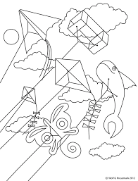Small Picture Good Kite Coloring Page 19 In Free Coloring Kids with Kite