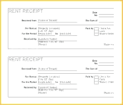 Receipt Rent Template Rental Word Sample Form House R