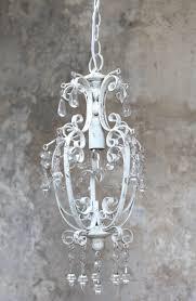 Kronleuchter Luester Lampe Weiss Antik Eisen Vintage