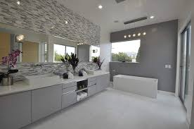 image of contemporary modern bathroom vanity lights