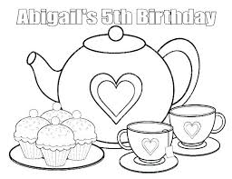 Tea Party Coloring Pages Free S Print For Kids Coloring Online