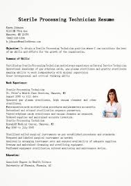Process Technician Resume Sample Process Technician Resume Sample Best Sterile Processing Gallery 1