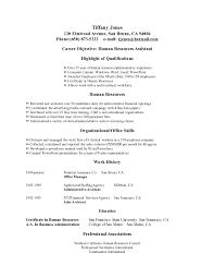 Sample Resume Objectives 2016 Resume Samples The Principled Society