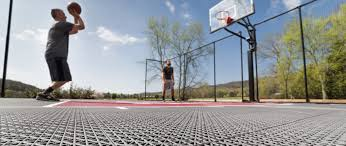 With an open top design and superior weather resistance and drainage, our floors are ready to play all year round. Basketball Court Faqs