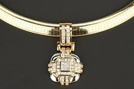 14k white gold omega necklace