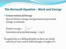bernoulli equation. the bernoulli equation - work and energy