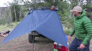 Truck Camping: Setting Up Your Truck Rain Tarp Using a Hiking Pole ...