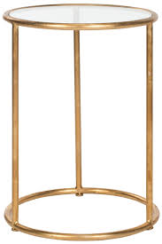 shay glass top gold leaf accent table fox2523b accent tables